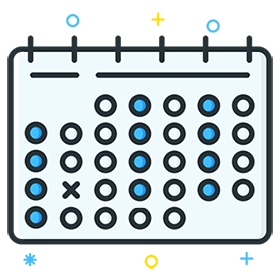 Sport calendar with workouts history