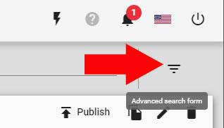 Advanced Search Filter